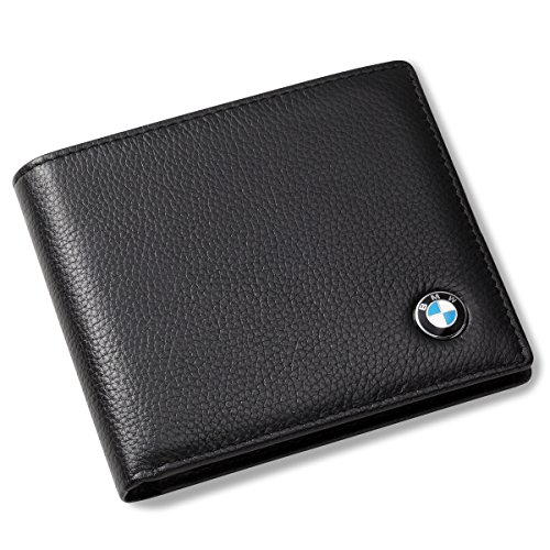 BMW Bifold Wallet with 3 Credit Card Slots and ID Window - Genuine Leather from Generic
