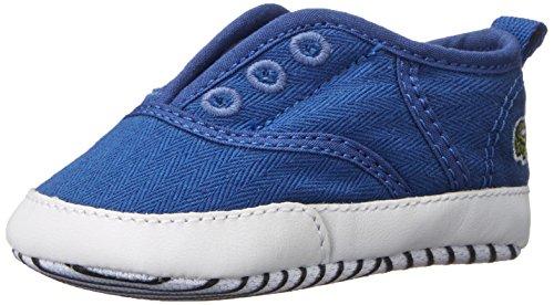 Lacoste Rene Crib Sneaker (Infant/Toddler), Blue/Blue, 3 M US Infant