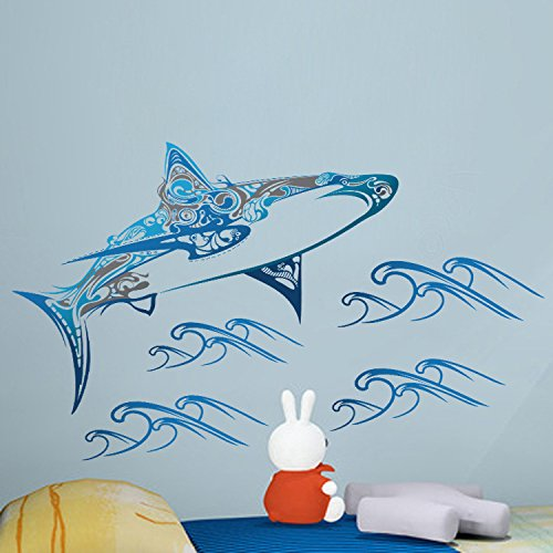Whale Mural (Amaonm Hote Fashion Removable 3D Blue Whale Wall art Decor Decals DIY Decorations Wall Stickers Murals Wallpaper For Children Kids Babys Room Bathroom Bedroom Nursery Room Decorations)