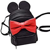 ABage Girl's Mini Backpack Purse Cute Lightweight PU Leather Travel Daypacks