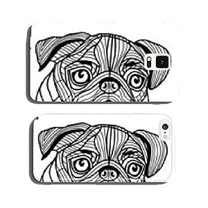 Dog pug head vector cell phone cover case Samsung S5