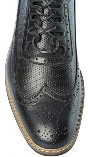 Shoes Formal Black Dress Leather Parrazo Mens Slip On Oxfords PU or Fashion Casual Business OSWIO