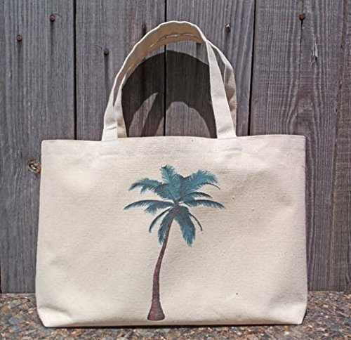 Amazon.com: Bridesmaid Beach Bag Party Tote with Palm Tree, Cruise ...