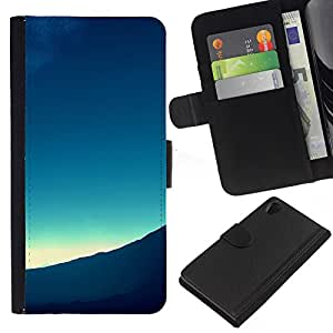 All Phone Most Case / Oferta Especial Cáscara Funda de cuero Monedero Cubierta de proteccion Caso / Wallet Case for Sony Xperia Z2 D6502 // Mountain View Landscape Horizon Sunrise