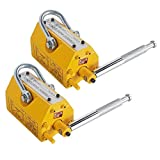 CO-Z 2PCS Lifting Magnet Steel Magnetic Lifter Hoist Crane - 660LBS/300KG