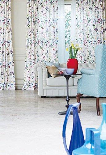 アスワン 色とりどりの花が窓辺を飾るカーテン カーテン2倍ヒダ E6092 幅:100cm ×丈:200cm (2枚組)オーダーカーテン 200  B0784WRZ15