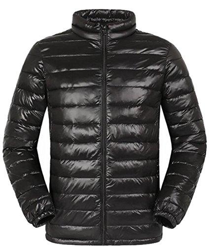 Jacket Stand Men's amp;S Lightweight Outwear Black Down Jacket amp;W M Packable Collar Puffer H6q8z