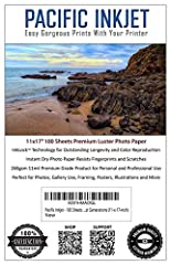 This Premium Professional Luster Paper should be your only choice when thinking of what to use for your valued clients and family. At 268gsm it's a bit thicker than products offered by most professional labs, so make sure your printer is capa...