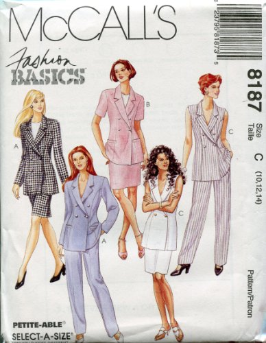 McCall's Pattern 8187 ~ Misses' Lined Jacket, Skirt & Pants ~ Sizes 10-12-14