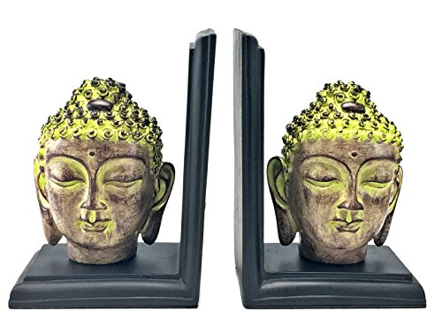 Buddha Book Ends - Book Organizers for desk - Table Accessories - Home Decor / Study Room Accessories - Arts and Crafts / Table Decor / Figurines / Gifts for Kids , Women , Men