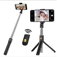 Selfie Stick Tripod, Bluetooth extensible Selfie Stick con control remoto inalámbrico, Cochanvie 3 en 1 Selfie Stick multifuncional para iPhone X XS XR 8 Plus 7 Plus 6s Android Huawei Samsung Galaxy S10 S10 Plus