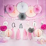 Easy Joy It's A Girl Banner Paper Decoration Kit Gender Reveal Baby Shower Birthday Party Hanging Decoration