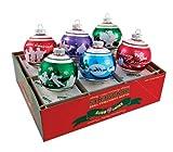 RADKO Shiny Brite Jubilant Jolly Signature Flocked Christmas Ornaments