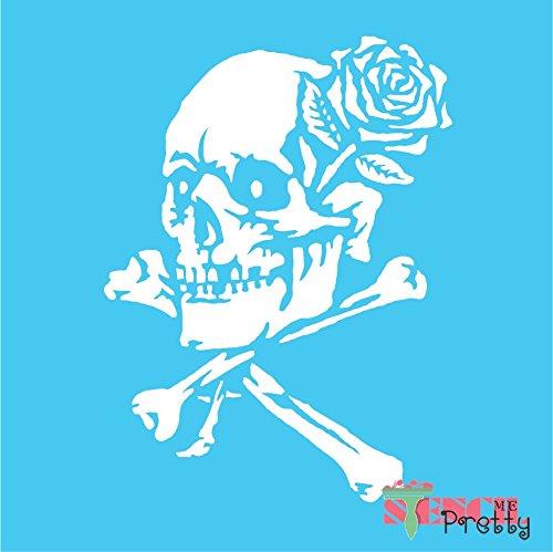(Skull Demon Bone Crossbones Stencil Emblem for Harley Cruiser Garage Wall - Multipack (M,L,XL))