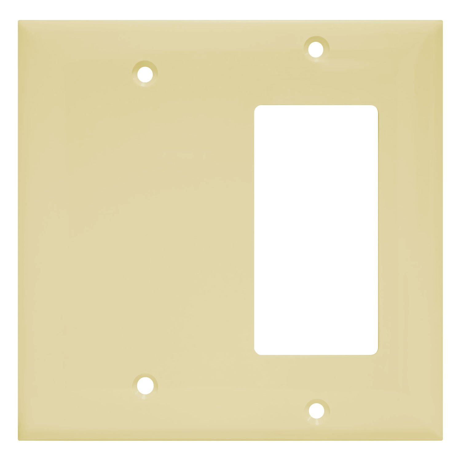 Enerlites 880131 I Decorator/Blank Switch Wall Plate Combination By Home  Decorator Outlet Cover, 2 Gang, Ivory, Standard Size: Amazon.com: Home  Improvement