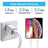 X-EDITION USB Wall Charger,4-Pack 2.1A Dual Port