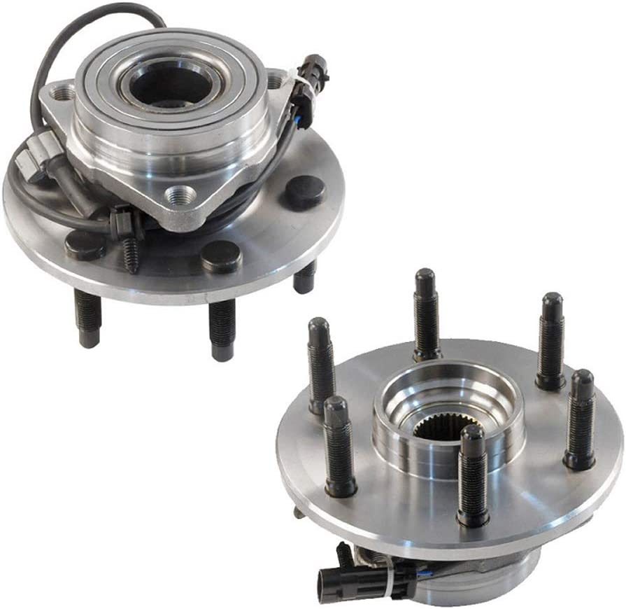 2 Pcs IRONTEK 515036 Front Wheel Hubs /& Bearings for 4WD Chevy GMC Truck 6 Lugs Wheel Hub with ABS 3 Bolt Flange fit Chevrolet Silverado 1500 GMC Sierra 1500 Cadillac