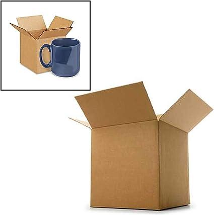 Caja de cartón corrugado postal taza taza cajas 4 x 4 x 4
