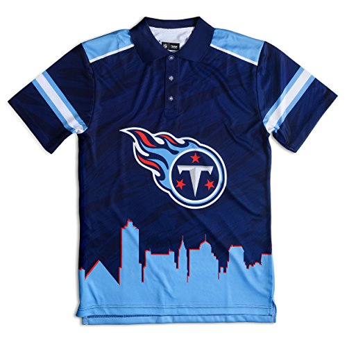 FOCO Tennessee Titans Polyester Short Sleeve Thematic Polo Shirt Large by FOCO