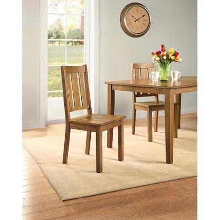 Better Homes and Gardens Bankston Dining Chair, Set of 2, Honey by Better Homes & Gardens
