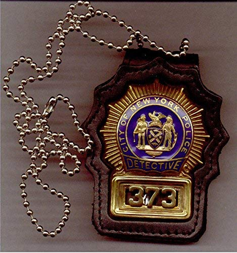 New York/New Jersey Police Detective Style Neck Hanger with beaded chain badge not included) -