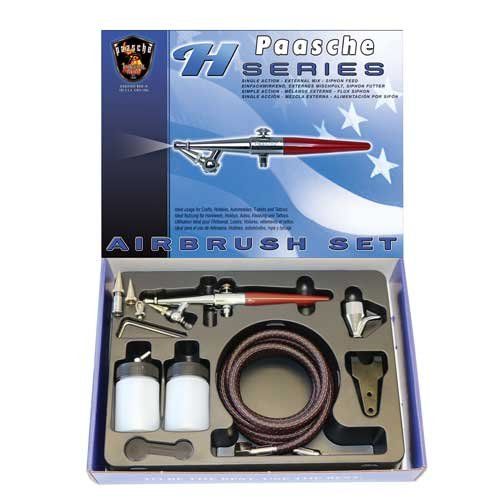 Paasche H-SET Single Action Siphon Feed Airbrush Set by Paasche Airbrush