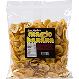 Sam Pocker's Magic Banana Chips - Healthy & Tasty Dried Fruits Snacks - Sweet, Crunchy Bananas Sourced from the Philippines - Sweetened Dehydrated Dry Fruit Treats - No Sodium or Fat - 1Lb Bulk Bag
