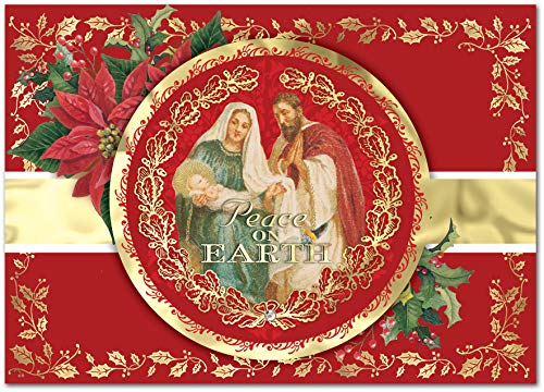 Punch Studio Child Medallion Dimensional Holiday Boxed CardsFeaturing 12 Embellished Cards and Envelopes (44696) (Cards Christmas Punch)