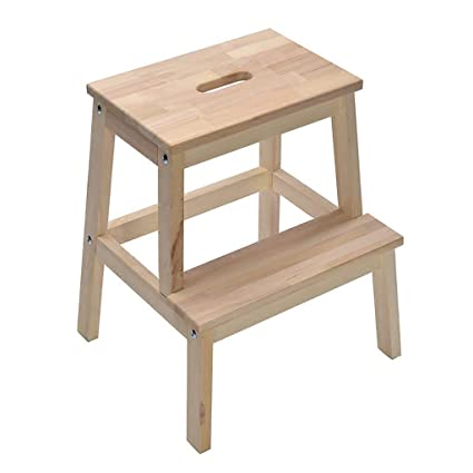 Groovy Amazon Com Tq Step Step Stool Solid Wood Handmade Child Theyellowbook Wood Chair Design Ideas Theyellowbookinfo
