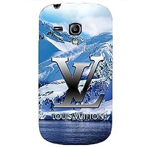 Fresh Blue Pattern Louis Fashion Vuitton Phone Case Creative Cover for Samsung Galaxy S3 Mini