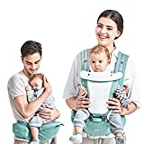 Cheap Kidshome 4 in 1 Baby Carrier Hipseat Ergonomic Front Facing Infant Sling Backpack Detachable 4 Safe and Comfortable Positions Suitable for 0-3 Years Old Baby (Turquoise)