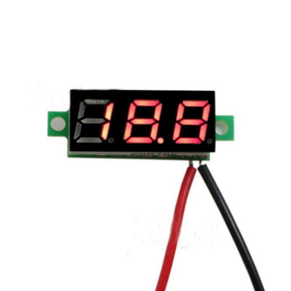 Balai 0.28 inch 2.5V-33V LED Screen Mini Digital Voltage Circuit Tester Meter Electronic Parts Accessories Digital Voltmeter Balai Tech SJ-DC028V-A