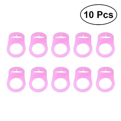 Artibetter 10 Unids Botón de anillo de chupete de bebé ...