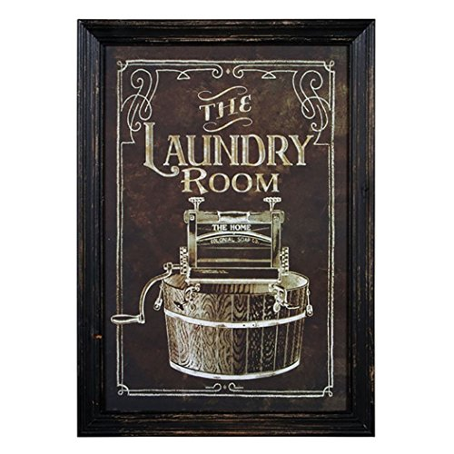 Laundry Plaques Room (The Laundry Room 16.5 x 12 inch Wood Framed Advertising Wall Plaque Sign)