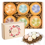 Natural Scented Bath Bombs - 6 X 4.1 OZ Spa Bomb Set, with Dead Sea Salt, Essential Oils & Shea Butter - The Best Gift Idea for Her/Him, Wife, Girlfriend, Men, Women