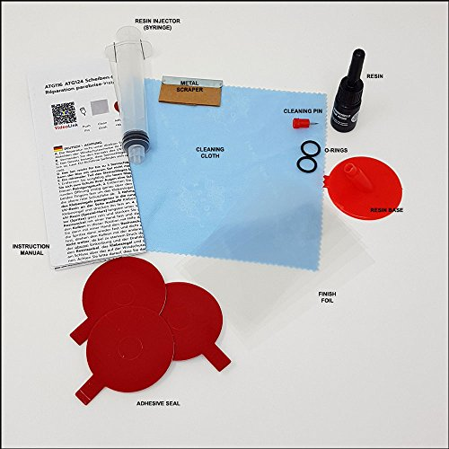 ATG Windshield-FIX | Full Repair Kit for Cracks, Scratches, Chips | 17 pieces. | DIY Smart Repair by ATG (Image #1)