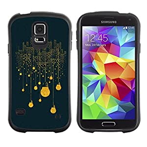 Suave TPU GEL Carcasa Funda Silicona Blando Estuche Caso de protección (para) Samsung Galaxy S5 / CECELL Phone case / / Electric Bulb City Lights Skyscrapers Art /