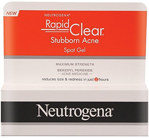 Neutrogena Rapid Clear Stubborn Acne Spot Gel 1 oz (Pack of 2)