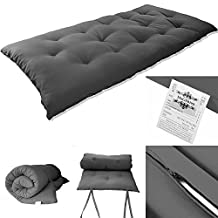 "3"" Tatami Floor Mat- Japanese Bed, Rolling Bed, Thai Massage Bed, Mattresses, Floor Bed, Floor Mattresses (Single Size(3""x27""x80""), Dark Gray)"
