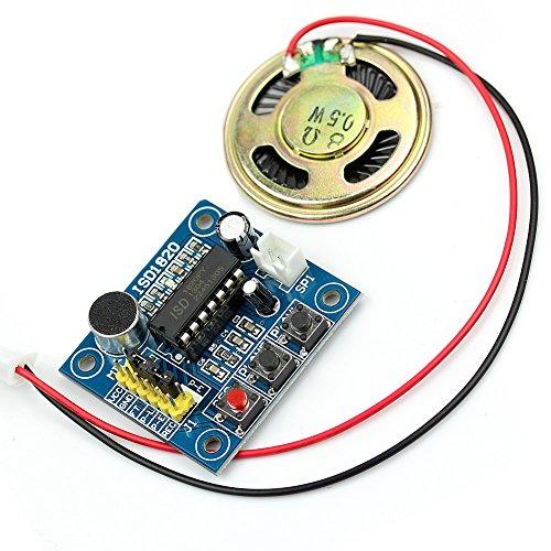 Wrisky Voice Recording ISD1820 Recorder Module With Mic Sound Audio Loudspeaker New New Loudspeakers