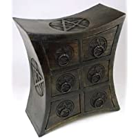 Six Drawer Curved Design Pentagram Herb Cupboard