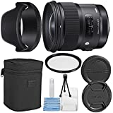 Sigma 24mm f/1.4 DG HSM Art Lens for Canon EF + Essential Bundle Kit + 1 Year Warranty - International Version (No Warranty)