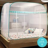 Folding mosquito net castle tent, Double sided home zipper bed canopy for kids-B King