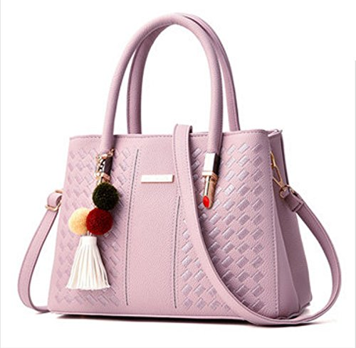 01 Faway PU Crossbody Bag Leather Handbag Pink Casual Women nEqP7cUx0x