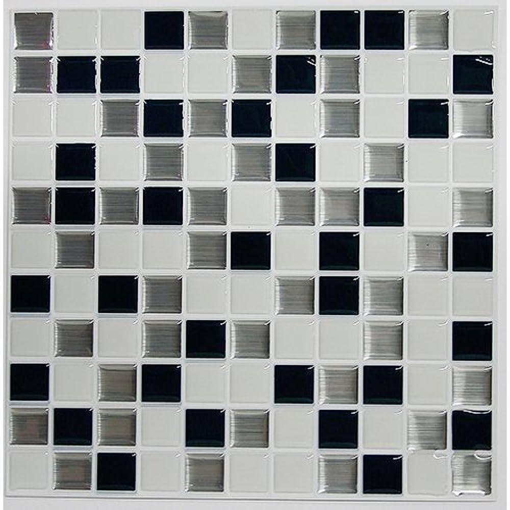 - Black & White Mosaic Peel And Stick Tile Backsplash, 4-pack 10.5