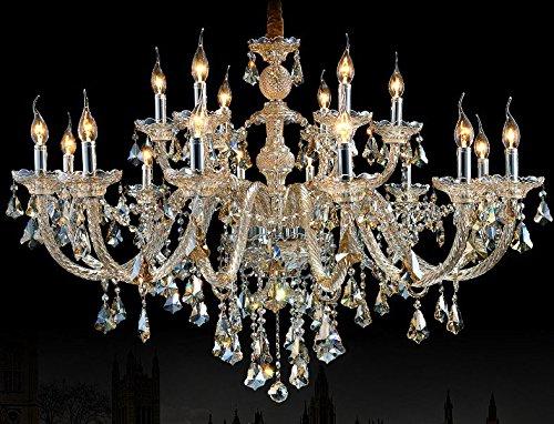 Generic Crystals Chandelier 18 Pendant Lights Arms Color Cognac