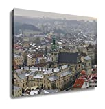 Ashley Canvas Winter Panorama Of Lviv Covered By Snow UKrainelviv Lvov Eastern UKraine The, Wall Art Home Decor, Ready to Hang, Color, 16x20, AG6088588