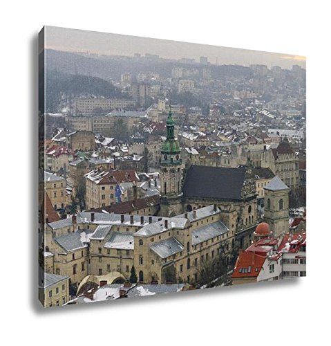 Ashley Canvas Winter Panorama Of Lviv Covered By Snow UKrainelviv Lvov Eastern UKraine The, Wall Art Home Decor, Ready to Hang, Color, 16x20, AG6088588 by Ashley Canvas