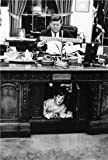 JOHN F KENNEDY AND JFK JR GLOSSY POSTER PICTURE PHOTO white house father son