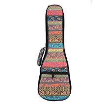 Jacktom Soft Pad Cotton Folk Style Ukulele Bag Case for 21/23/26 Inch Ukulele